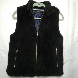 J Crew faux fur vest